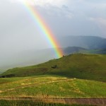 Rainbow at the National Bison Range in Moise, Montana