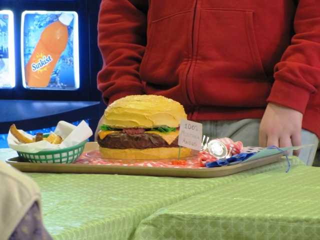 Awesome Food Fair hamburger cake