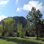 The base of Chief Cliff in Elmo, Montana