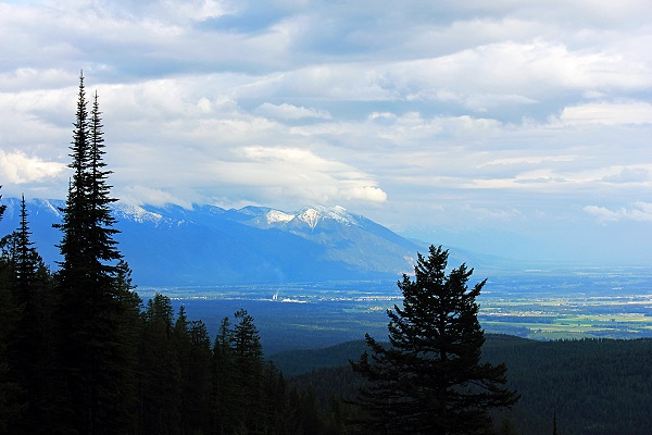 A Scenic View of the Flathead Valley from Big Mountain