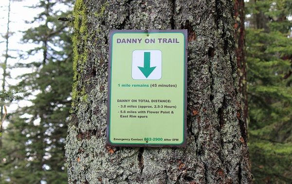 Danny On Trail Sign, Big Mountain