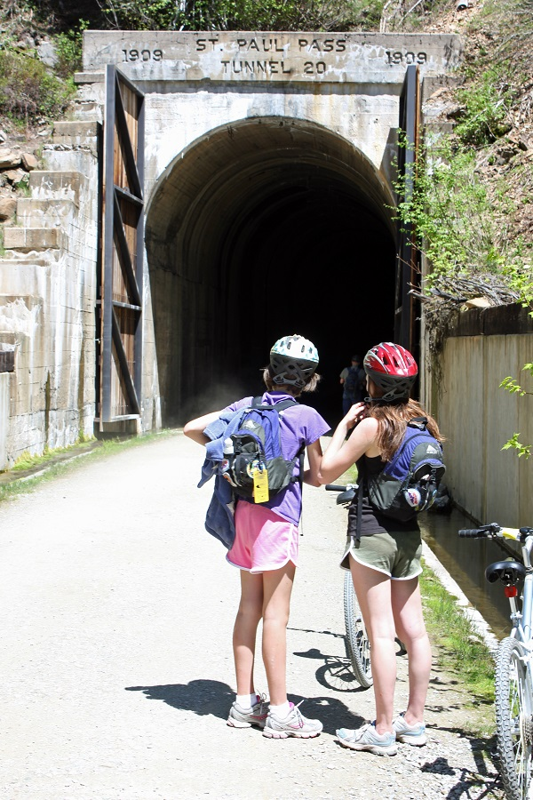 St. Paul Pass Tunnel.Hiawatha Bike Trail