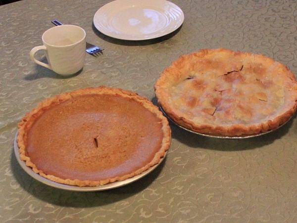 pumpkin pie, cherry pie