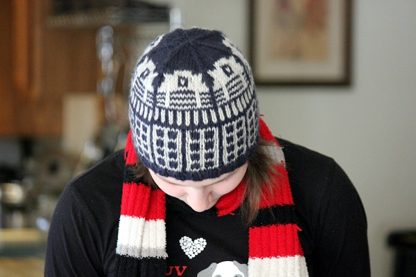 Dr. Who knitted hat