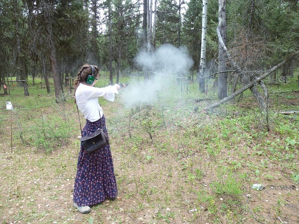 Shooting a black powder pistol