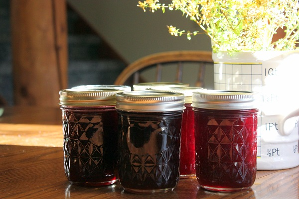 Our pretty jars of cherry jam