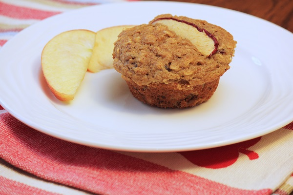 Apple-Oat Muffin with Cranberries
