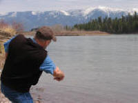 Skipping Stones on the Flathead River
