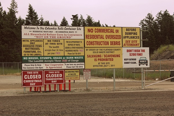 Green Box Site Sign, Columbia Falls, Montana