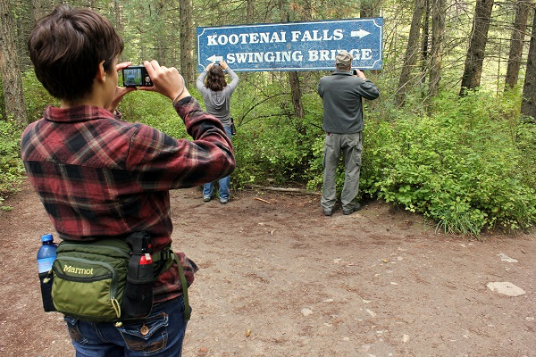 Kootenai Falls trail sign
