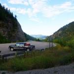 Parking lot Kootenai Falls