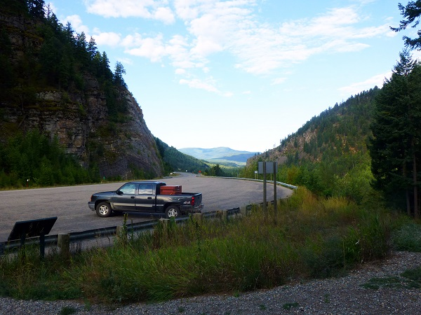 Parking lot Kootenai Falls