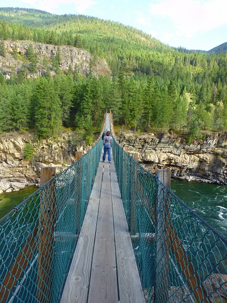 Swinging bridge Kootenai Falls