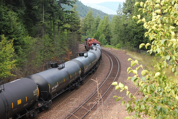 Train at Kootenai Falls