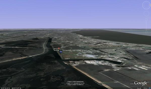 Pilot's View of Runway